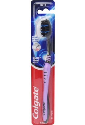 Colgate Super Flexi Black Orta Diş Fırçası Mor