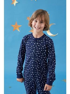 Penti Mavi Erkek Çocuk Star Tulum