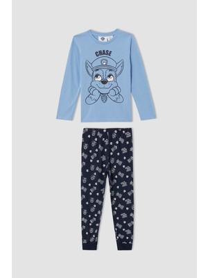 Defacto Erkek Çocuk PAW Patrol Lisanslı Uzun Kollu Pijama Takımı V3668A621AU