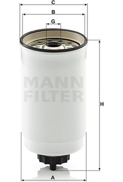 Mann Yakıt Filtresi Dizel Transit 2.4-2.5 D-Td Mann WK880