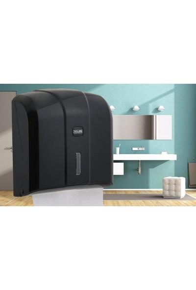 Vialli Kh 300B Z Katlı Kağıt Havlu Dispenseri Siyah Kapasite 300 Kağıt