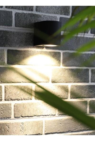 Full Reyon Tek Yönlü Iç - Dış Mekan Dekoratif Siyah Aplik - Mavi Işık