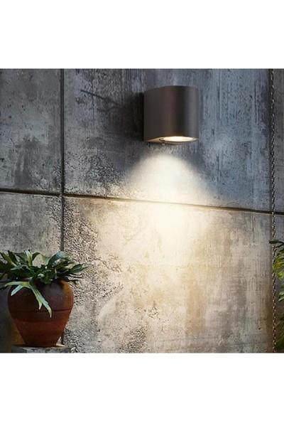Full Reyon Tek Yönlü Iç - Dış Mekan Dekoratif Siyah Aplik - Yeşil Işık