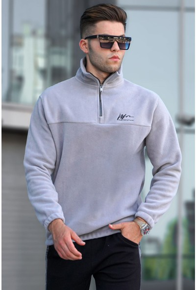 Madmext Gri Fermuarlı Sweatshirt 5310