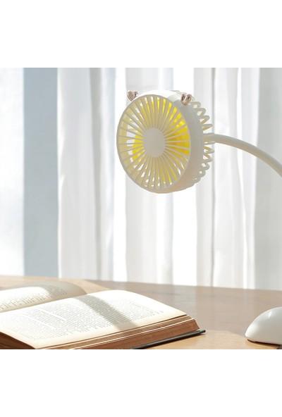 Farfi Geyik Tasarım USB Şarj Klip Beşik Gezginci Masa Ev Ofis Soğutma Mini Fan (Yurt Dışından)