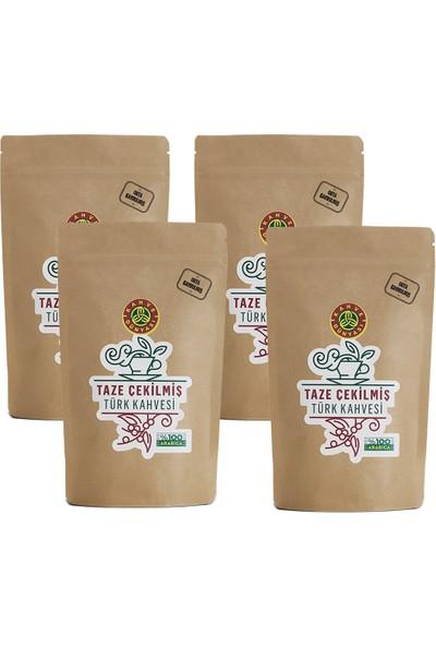 Kahve Dünyası Taze Çekilmiş Türk Kahvesi Orta Kavrulmuş 200 gr 4'lü