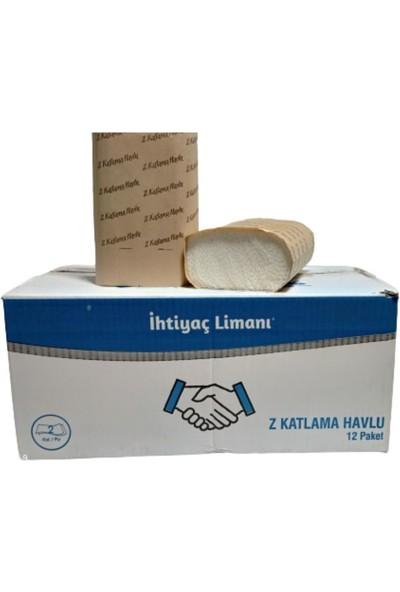 Ihtiyaç Limanı Z Katlama Dispanser Z Katlı Kağıt Havlu Peçete 12 Paket 1 Koli