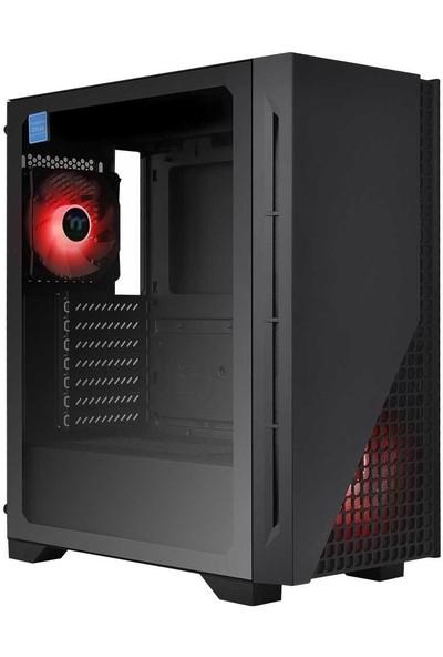 Thermaltake H330 650W Kırmızı Ledli 2X120MM Fanlı Tempered Glass Pencereli Oyuncu Kasası