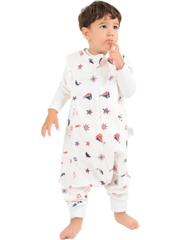 Enhitbaby Çocuk Bebek Kışlık ve Mevsimlik Çift Katlı Pazen Uyku Tulumu 1 Tog