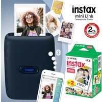 Fujifilm Instax Mini Link Mavi Akıllı Telefon Yazıcısı ve 20'li Mini Film