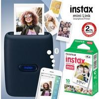 Fujifilm Instax Mini Link Mavi Akıllı Telefon Yazıcısı ve 10'lu Mini Film