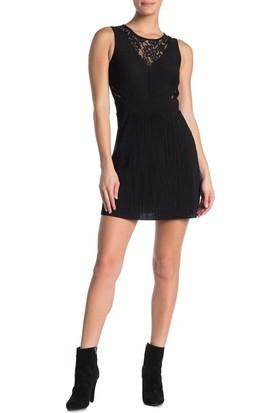 All Saints Siyah Slimfit Kadın Elbise Bel ve Sırt Desenli
