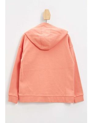 DeFacto Kız Çocuk Fermuar Detaylı Kapüşonlu Sweatshirt N1294A621AU