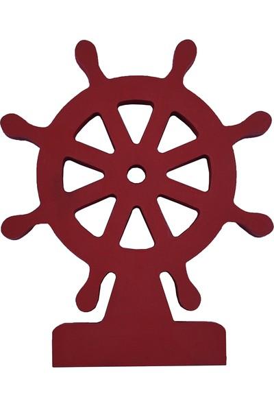 Odeon Kırmızı Dümen Dekoratif Ahşap Obje