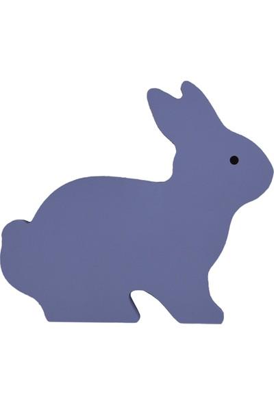 Odeon Mavi Tavşan Dekoratif Ahşap Duvar Süsü