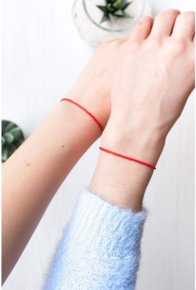 Alyones Kırmızı Ipli Bileklik, Koruyucu Bileklik, Kabala Bileklik, Şans Bilekliği 2'li