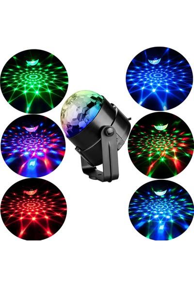 Ekspres Pazar Sese ve Müziğe Duyarlı Ledli Disko Topu/ Dekoratif LED Aydınlatma