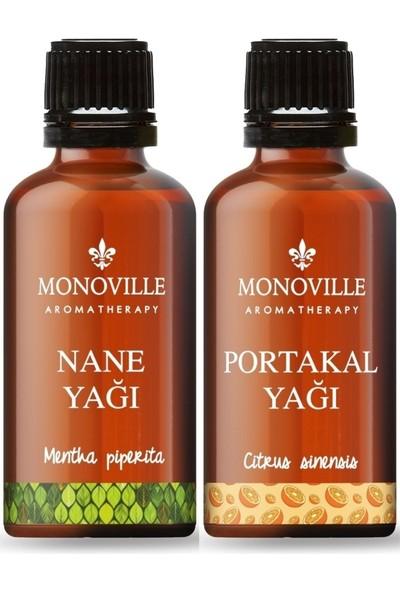 Monoville Aroma Therapy-2'li Set-Nane Yağı 10 ml ve Portakal Yağı 10 ml
