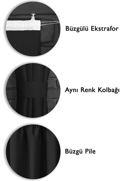 Asper Blackout Işık Geçirmez Fon Perde V-11 Siyah Pilesiz Ekstraforlu Karartma Güneşlik
