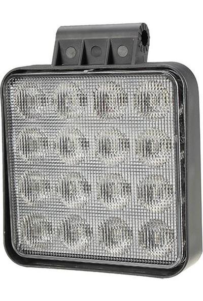 Techmaster 16 LED 48W Off Road Sis Farı Lambası Kare Gemi Projektör 12V