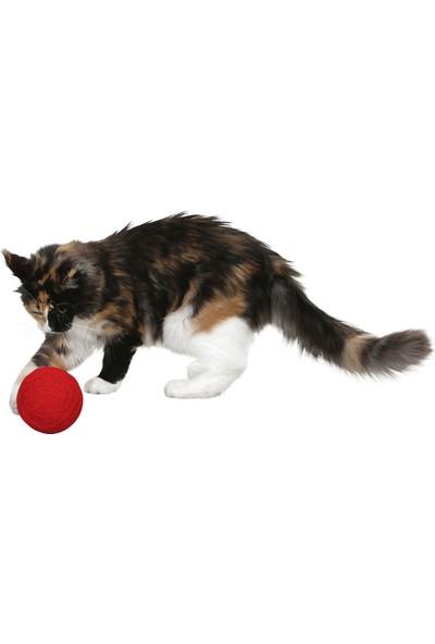 Kerbl Kör Kediler Için Oyuncak Çıngıraklı Kırmızı Yumak 10 cm