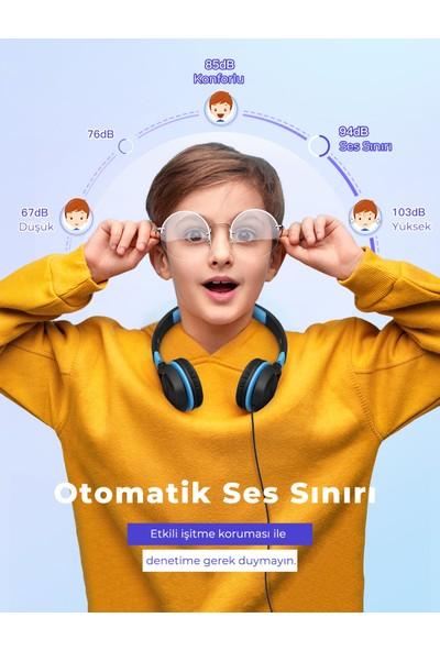 Mpow CHE1 Ses Limitli Kablolu Kafaüstü Çocuk Kulaklığı Siyah
