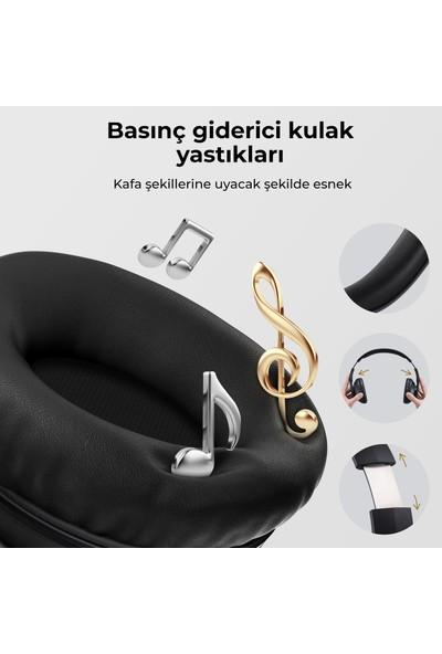 Mpow 059 Pro/Lite Kafaüstü Mikrofonlu Bluetooth Kulaklık Çift Telefon Desteği 60 Saat Müzik Siyah