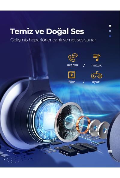 Mpow HC6 270 Derece Dönen Mikrofonlu Kulaklık 3.5mm/USB Bağlantı
