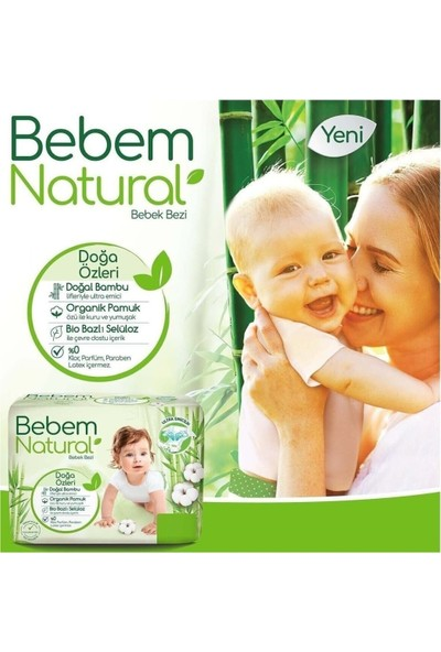 Molfix Bebem Natural Yenidoğan 1 Beden 2-5 kg Jumbo 160'LI
