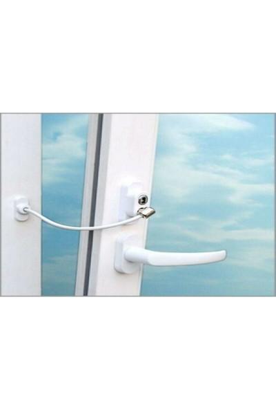 Infoled Pvc Kapı Pencere Çocuk Emniyet Kilidi Halatlı Anahtarlı