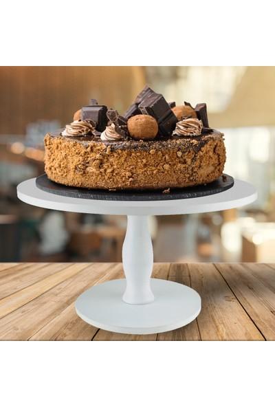 Yekcenter Ahşap Pasta Kek Standı Sunumluk