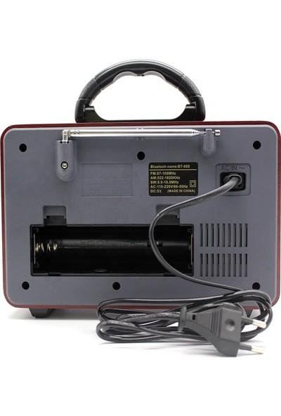 Meier M-113BT Nostaljik Şarjlı Radyo Bluetooth Mp3 Sd