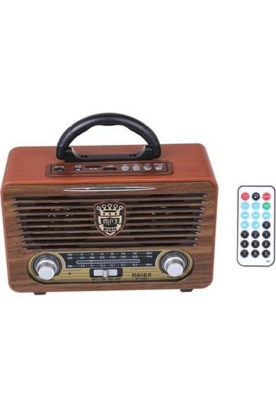 Meier M-115BT Nostaljik Şarjlı Radyo Bluetooth Mp3 Sd