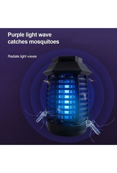 Charge Uv Sivrisinek Öldürücü Elektrikli Lamba
