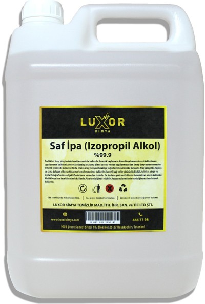 Luxor Kimya Saf Ipa %99 (Izopropil Alkol) 5 Lt.