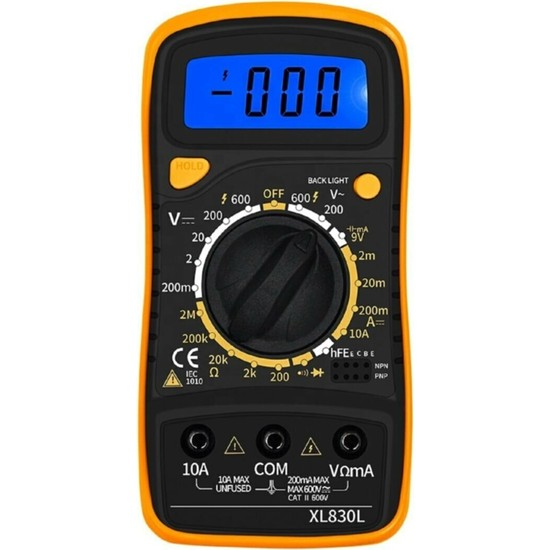 Solinpatech XL830L Dijital Ölçü Aleti Multimetre Avometre Voltmetre