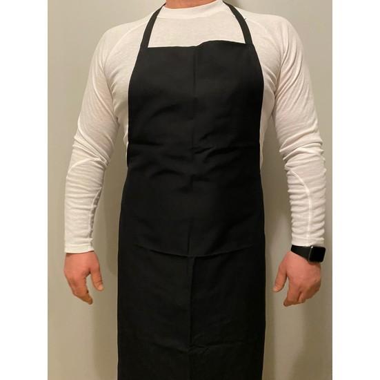 Mutfak Garson Aşçı Şef Iş Önlüğü Servis Önlüğü Boydan Askılı Siyah