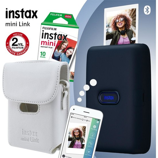 Fujifilm Instax Mini Link Mavi Akıllı Yazıcı ve Çantalı Set 3