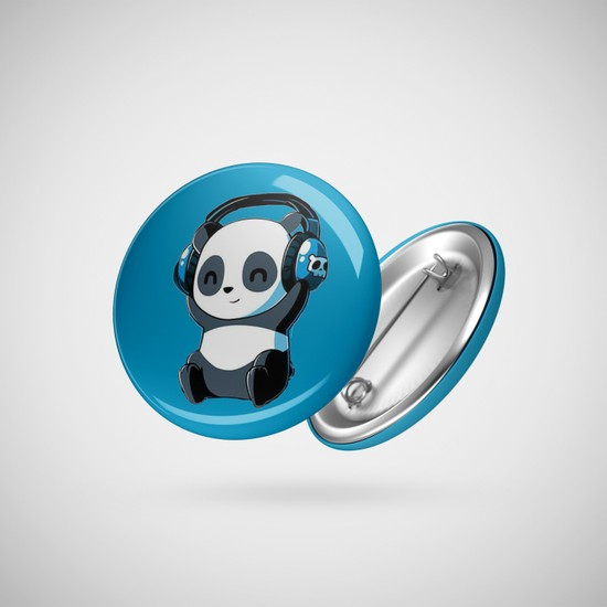 Fizello Panda Love Music Rozet