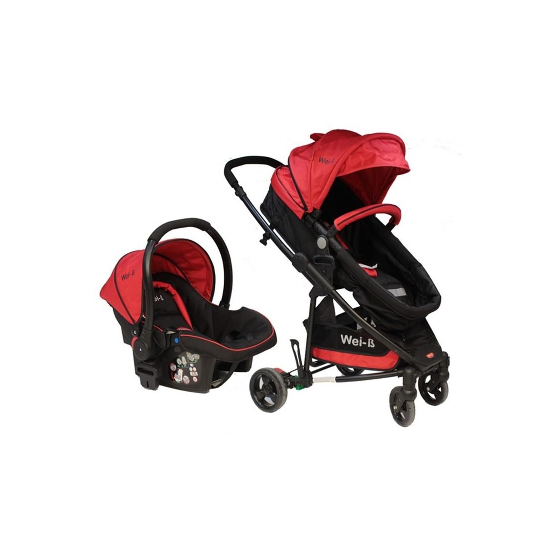 Wei-B Gloria Travel Sistem Bebek Arabası Kırmızı - Siyah