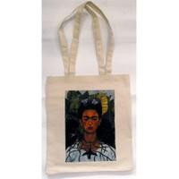 Köstebek Frida Kahlo - Diken Kolye Ve Sinek Kuşları Bez Çanta