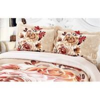 Cotton House Home Collection Çift Kişilik 3D Yatak Örtüsü - Primula