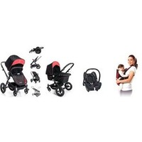 Maxi Cosi Ferrari Travel Set - Siyah (Çift Yönlü Bebek Arabası + Portbebe + Cabriofix Anakucağı + Adaptör)