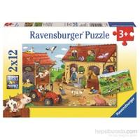 Ravensburger Çiftlikte Çalışmak - 12X2p Puzzle