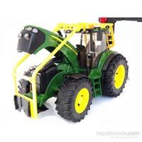Bruder - John Deere 7930 Tomruk Taşıyan Traktör - 03053