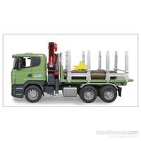 Bruder Scania R-Serisi Kütük Taşıyıcı Kamyon - 03524