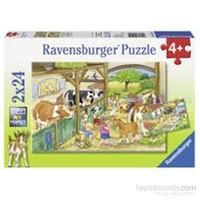 Ravensburger Puzzle / Çiftlikte Bir Gün 2x24