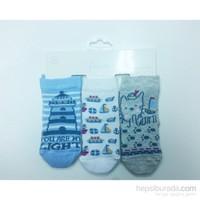 Premom Sailor 3'Lü Soket Çorap