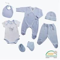 Bebedor Butik 6 Lı Hastane Çıkş Seti Mavi