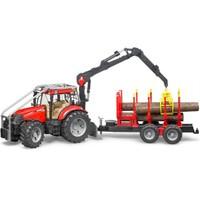 Bruder Case Puma 230 Cvx Tomruk Taşıyan Traktör & Römork